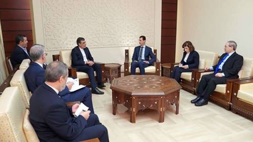 Photo of Al-Assad meets Iranian delegation Before of Sochi conference