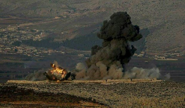 Photo of Turkish occupation Bombing jala, Jkmkah village in Rajo