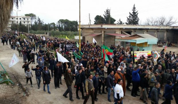 Photo of Afrin protesters arrive at Janders