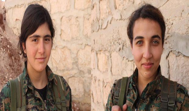 Photo of YPJ fighters: With guerilla spirit of martyrdom we protect our homeland, our people