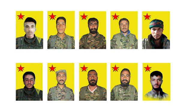 Photo of YPG reveal record of 10 martyrs of al-Jazeera Tempest