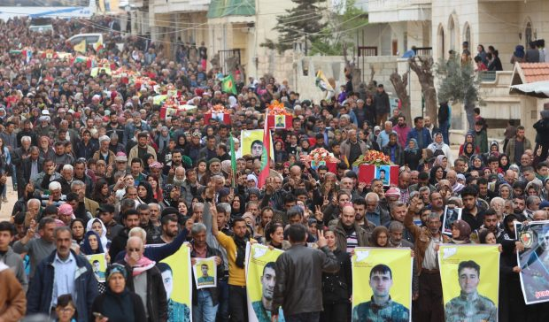Photo of Components of Afrin bid farewell of martyrs Resistence of age