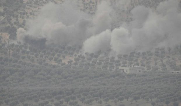 Photo of The Turkish army continues to bomb the villages of Afrin with planes and guns