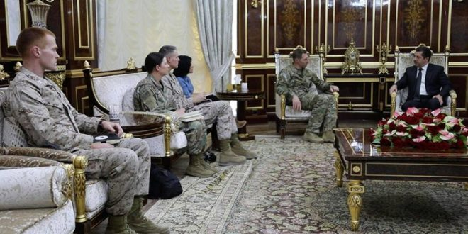 Photo of Mesrour, Barzani And Robertson Are Discussing How To Strengthen Kurdish Forces In Syria