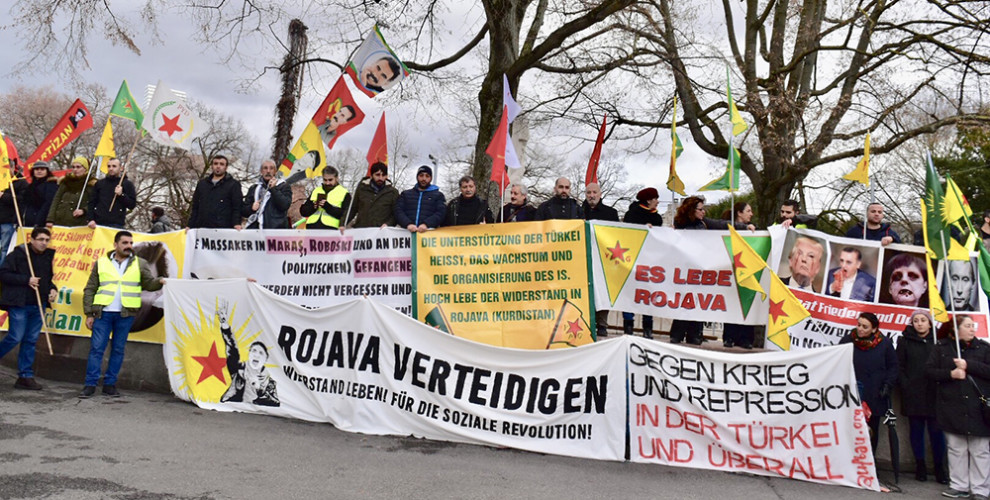 Photo of Demonstration against Turkish massacres and attacks in Basel