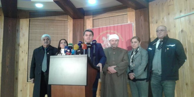 "Photo of The KNK press conference did not end with a call for Kurdish unity until ENKS announced its ""rejection"" of the initiative !"