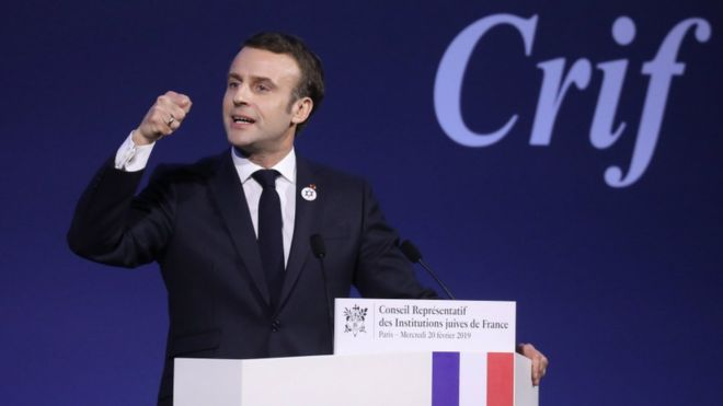 Photo of Macron announces crackdown on anti-Semitism in France