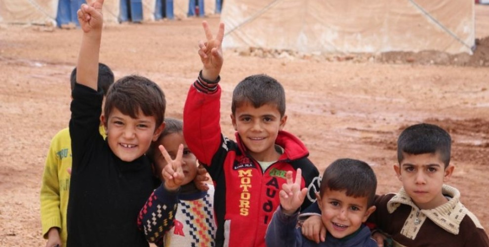Photo of Afrin children in Shehba hope to return home
