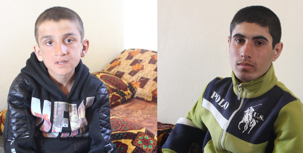 Photo of Yazidi children rescued from ISIS tell what they experienced