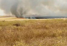 Photo of The Turkish occupation continues to set fire to agricultural fields in northeastern Syria