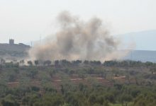 "Photo of The Turkish army and the factions loyal to it are bombing villages in ""Shara"" district"