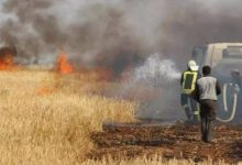 Photo of ISIS burns large areas of Kurdish peasant land south of Nineveh