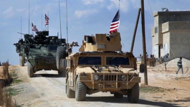 Photo of American armored vehicles intercept a Russian patrol on the M4 International Road