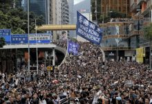Photo of Dozens arrested in protests marking the first anniversary of defiance of a police ban in Hong Kong