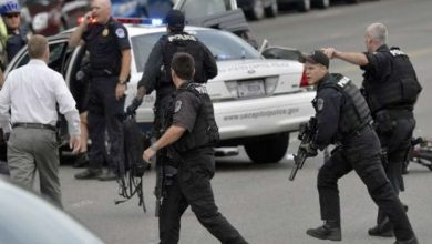 "Photo of America .. Unidentified gunmen shot 4 policemen of the ""San Louis"""