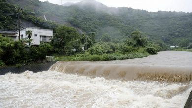 Photo of 13 people lost in heavy rains in southern Japan