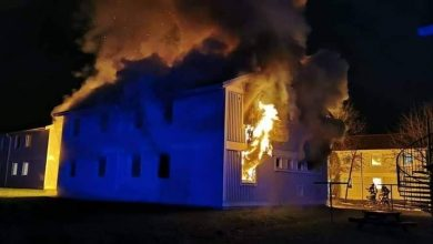 "Photo of Fire breaks out in an archaeological building in the German state of ""Bavaria"""