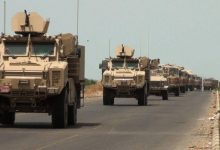 Photo of A military convoy of the international coalition forces enters eastern Syria