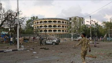 Photo of Suicide bomber near presidential palace in Mogadisho