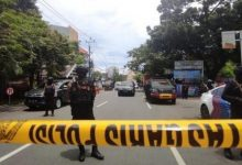 Photo of Victims in an explosion inside a church in Indonesia