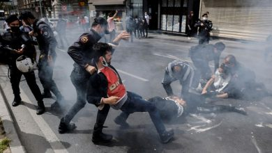 Photo of Turkish police detain hundreds at lockdown May Day marches